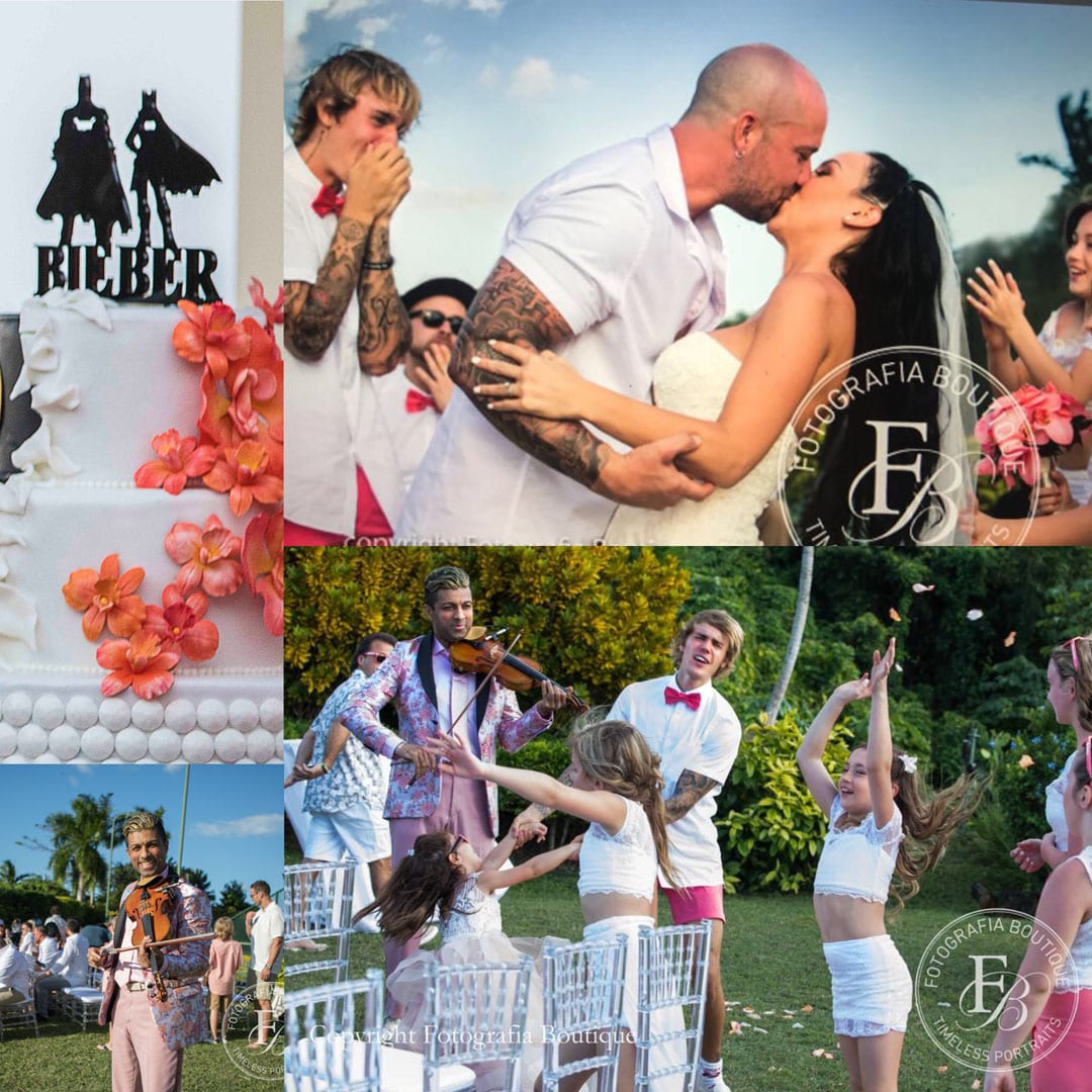 Bieber Wedding - collage pic