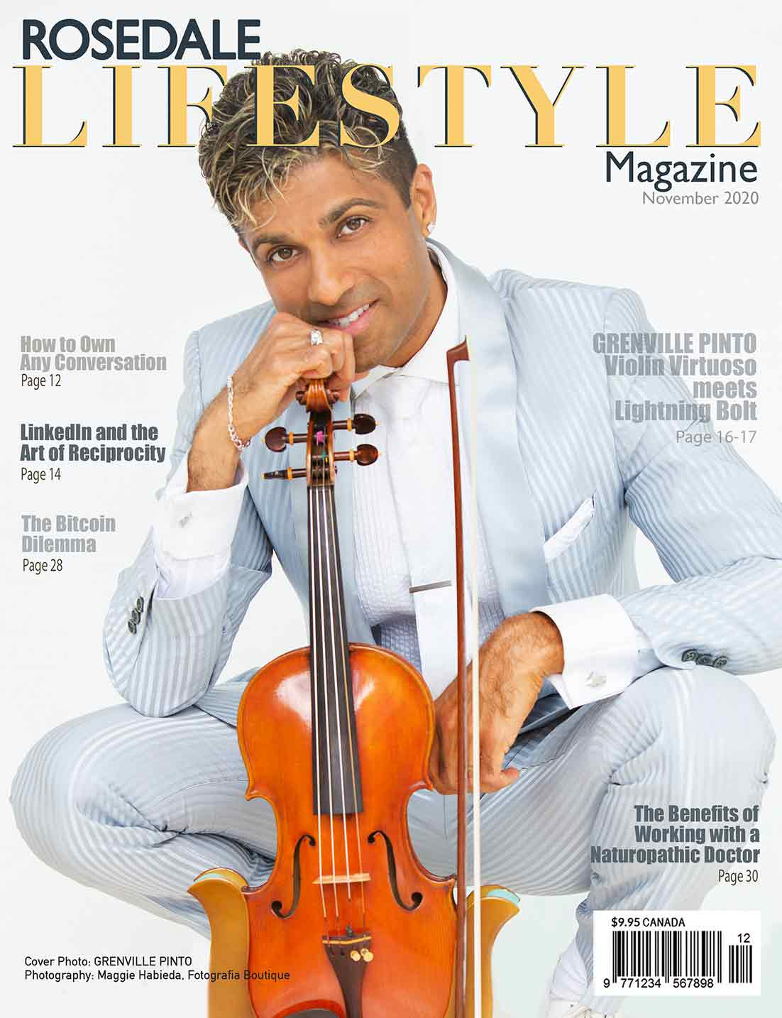 Rosedale Lifestyle Magazine cover with G Pinto