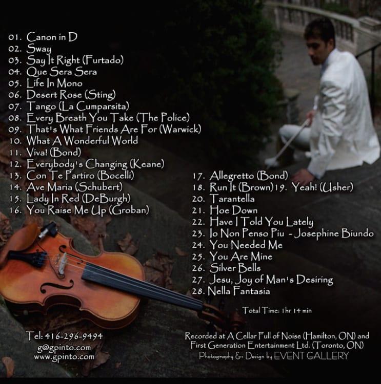 G Pinto - Compilation Album Cover