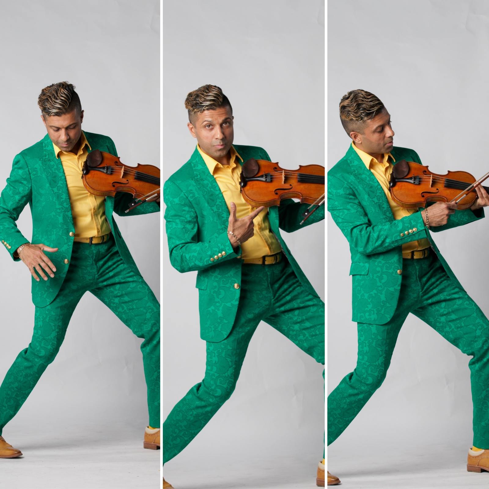 G Pinto green suit